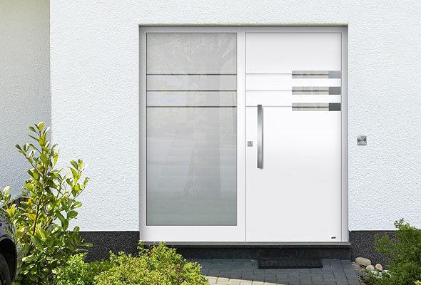 Haustüren weiß mit seitenteil  Aluminium-Haustüren inkl. Montage bietet BÜDEKER & RICHERT ...