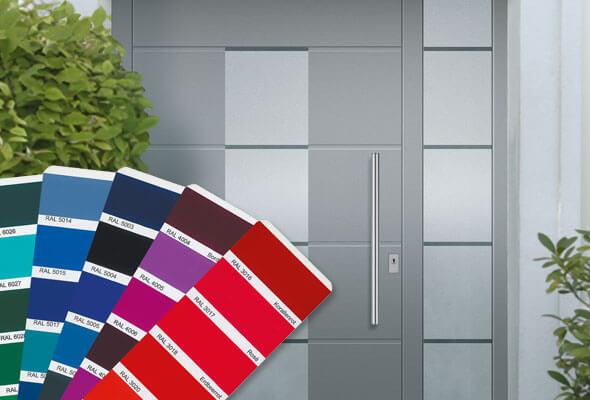 aluminium haust ren inkl montage bietet b deker richert. Black Bedroom Furniture Sets. Home Design Ideas